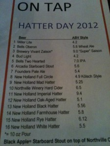 Hatter Day Lineup 2012